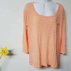 🌟SALE🌟 Peach Splendid stripe thin shirt M/L
